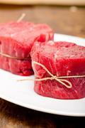 Raw beef filet mignon Stock Photos