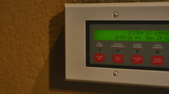 security system buttons - stock footage