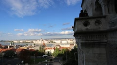 View from the Fishermens Bastion over Budapest Stock Footage