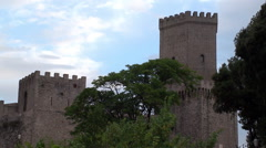 Norman castle of Erice city. Sicily, Italy. Stock Footage