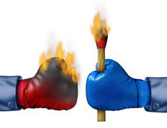 Stock Illustration of burning the competition