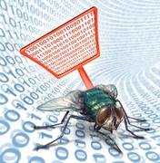 computer bug security - stock illustration