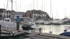 Ocean Village Marina Stock Footage