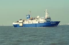 Ship at Mumbai Port - stock photo