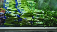 Vegetables in grocery Stock Footage
