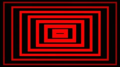 Hypnotic Red Tunnel n.2 Stock Footage