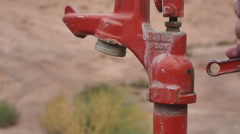 Water pump slow motion 2 Stock Footage