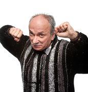 Aggressive man Stock Photos