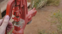 Water pump slow motion Stock Footage