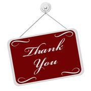 thank you sign - stock illustration