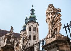 romanesque church in krakow - stock photo