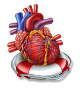 heart rescue - stock illustration