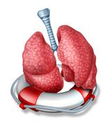 lungs rescue - stock illustration