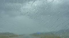 Windsheild wipers slow Stock Footage