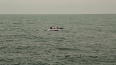 Rowboat On The Sea, Boat, Fishing Boat - stock footage
