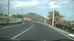 Mount Etna road POV driving at day. N 69 Stock Footage
