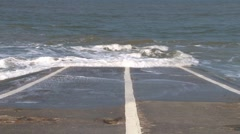 Seafront Slipway Stock Footage