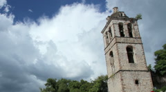 Bullring stands. Tlaxcala, Mexico-August 2014. TIME LAPSE-DOLLY OUT. Stock Footage
