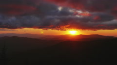 Ultimate Tennessee Sunset Smoky Mountains High Dynamic - stock footage