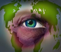 global domestic violence - stock illustration