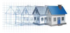 residential development - stock illustration