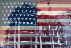 Stock Illustration of american economic development