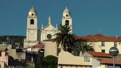 Europe Italy Liguria region village of Borgio Verezzi 002 old catholic cathedral Stock Footage