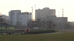 Buildings in Middlesbrough Town Centre Establishing Shot Stock Footage