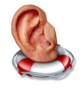 saving your hearing - stock illustration