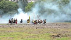 soldiers fight each other - military - battleground (army forces) - battlefield - stock footage