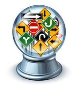 Direction forecast Stock Illustration