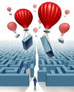 Removing the obstacle Stock Illustration