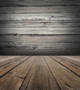 Old wood stage background Stock Illustration