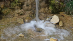 Stock Video Footage of water falling from stream