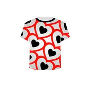 T Shirt Template- Valentine Hearts Stock Illustration