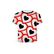 T Shirt Template- Valentine Hearts - stock illustration