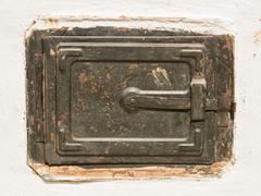 Old Stove Metallic Door Stock Photos