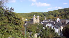 View of the small German town Bad Munstereifel. Stock Footage