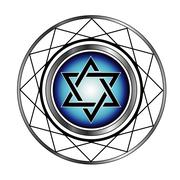 Star of David- Jewish religious symbol Piirros