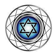 Star of David- Jewish religious symbol - stock illustration