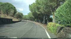 POV Driving on Mount Etna road. Stock Footage