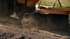 Construction grader working - stock footage