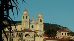 Europe Italy Liguria region village of Borgio Verezzi 006 old Italian church Stock Footage