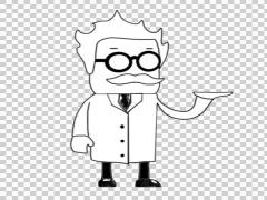 Mad Scientist 03 illustration whiteboard drawing sketch Stock Footage