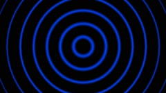 Hypnotic Blue tunnel circle Stock Footage