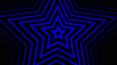 Blue Stars Hypnotic Stock Footage