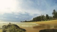 Tropical beach time lapse during monsoon season. Stock Footage