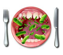 food poisoning illness - stock illustration