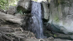 Small falls among stones, the Crimea Stock Footage