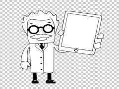 Mad Scientist 06 illustration whiteboard sketch drawing Stock Footage